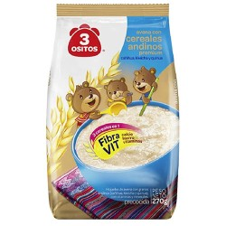 3 OSITOS - ANDEAN CEREAL ( CEREALES ANDINOS)  OATS, BAG X 270 GR