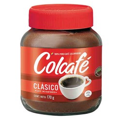 COLCAFE - CLASSIC INSTANT COFFE , JAR X 170 GR