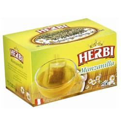 HERBI - PERUVIAN CHAMOMILE TEA INFUSIONS , BOX OF 25 UNITS
