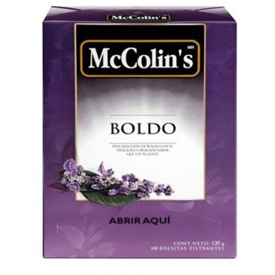 MCCOLIN'S  - PERUVIAN BOLDO TEA  INFUSION , BOX OF 100 UNITS