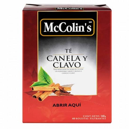 MCCOLIN'S - CLOVE & CINNAMON TEA INFUSION , BOX OF 100 UNITS