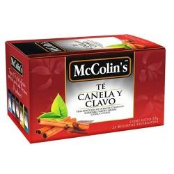 MCCOLIN'S - PERUVIAN TEA,CINNAMON INFUSIONS - BOX OF 25 UNITS