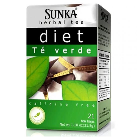 SUNKA DIET -  GREEN TEA INFUSION, BOX OF 21 UNITS