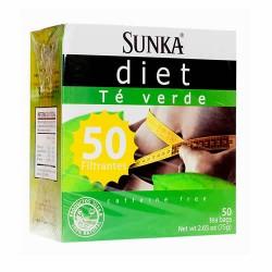 SUNKA DIET - GREEN TEA INFUSION , BOX OF 50 UNITS