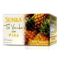 SUNKA -  GREEN TEA WITH PINEAPPLE FLAVORED, BOX OF 25 TEA BAGS