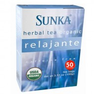 SUNKA RELAJANTE - PERUVIAN TEA INFUSIONS , BOX OF 50 TEA BAGS