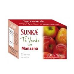 SUNKA - PERUVIAN GREEN TEA APPLE FLAVOR, BOX OF 25 UNITS