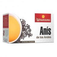 WAWASANA - PERUVIAN  ANISE INFUSION, BOX OF 25 FILTER BAGS