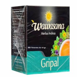 WAWASANA GRIPAL - ANTI FLU TEA INFUSIONS, BOX OF 50 TEA BAGS