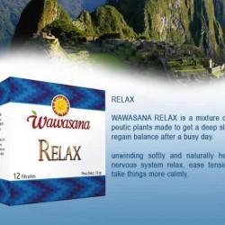 WAWASANA RELAX  - PERUVIAN TEA INFUSIONS , BOX OF 100 TEA BAGS