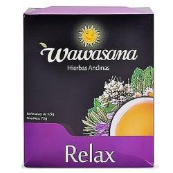 WAWASANA - RELAX TEA INFUSION, BOX OF 50 UNITS