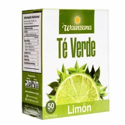 WAWASANA - GREEN TEA INFUSIONS WITH LEMON , BOX OF 50 TEA BAGS