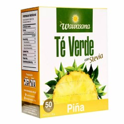 WAWASANA - GREEN TEA INFUSIONS WITH PINEAPPLE , BOX OF 50 TEA BAGS