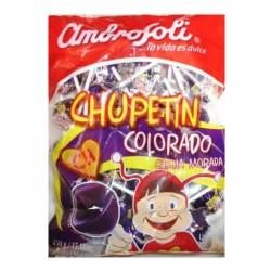 AMBROSOLI - CHICHA MORADA LOLLIPOPS CANDIES , BAG  X 25 UNITS