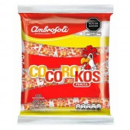 "AMBROSOLI ""COCOROKOS"" - HARD CANDIES FLAVORED PEAR , BAG X 100 UNITS"