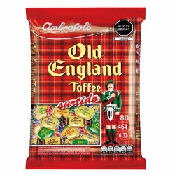 """AMBROSOLI """"OLD ENGLAND""""- ASSORTED TOFFEES CANDIES, BAG  X 80 UNIT"""