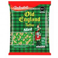 "AMBROSOLI ""OLD ENGLAND"" MILK TOFFEES MINT FLAVORED , BAG X 80 UNITS"