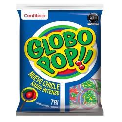 GLOBO POP - TRI FLAVOR LOLLIPOPS , BAG X 24 UNITS