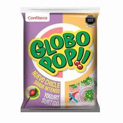GLOBO POP - YOGURT FLAVORED LOLLIPOPS , BAG X 24 UNITS