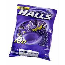 HALLS - CANDIES MULBERRY BLUE LYPTUS  x 100 UNITS