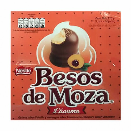 BESOS DE MOZA  - PERUVIAN CHOCOLATE BONBONS , LUCUMA FLAVORED - BOX OF 9 UNITS