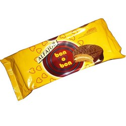ARCOR BON O BON - CHOCOLATE ALFAJOR , BAG X 6 UNITS