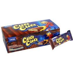 CUA CUA - WAFER ( OBLEA) WITH CHOCOLATE,  BOX OF 30 UNITS