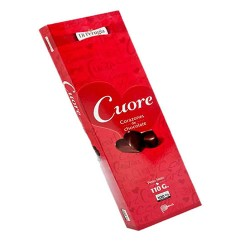 DI PERUGIA CUORE - CHOCOLATE BONBONS  FILLED WITH PEANUT BUTTER AND MARASCHINO TRUFFLE X 100 GR
