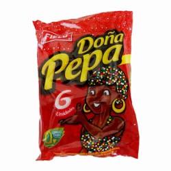 DOÑA PEPA - NOUGAT ( TURRON ) CHOCOLATE COOKIES  BAG X 6 UNITS