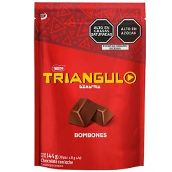 TRIANGULO DONOFRIO - BONBONS OF CHOCOLATE WITH MILK,  BAG X 18 UNITS