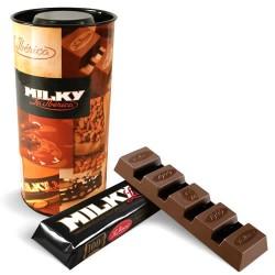 LA IBERICA MILKY - PERUVIAN MILK CHOCOLATE ,  BAR 50 GR - TUBE X  6 BARS