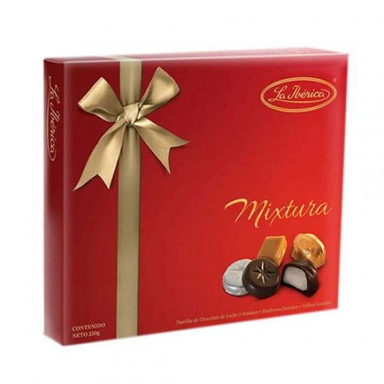 LA IBERICA - GIFT BOX CHOCOLATE BONBONS, BOX OF 210 GR