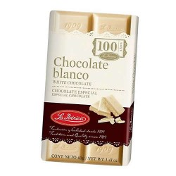 LA IBERICA - PERUVIAN WHITE CHOCOLATE TABLET ( CHOCOLATE BLANCO ) X 40 GR - BOX OF 10 UNITS
