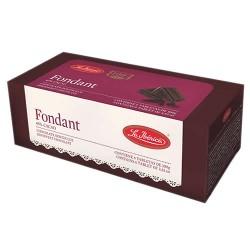 LA IBERICA FONDANT -  PERUVIAN SEMI-SWEET CHOCOLATE 45% CACAO , BOX OF 6 UNITS - TABLET X 100 GR