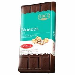 LA IBERICA - PERUVIAN MILK CHOCOLATE WITH NUTS , TABLET  X 200 GR