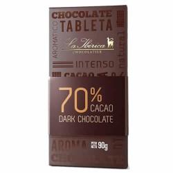 LA IBERICA - DARK CHOCOLATE 70% CACAO - TABLET  X 90 GR