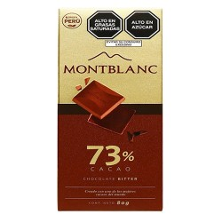 MONTBLANC - CHOCOLATE BITTER , PERU - BAR TABLET X 80 GR