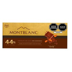 MONTBLANC - MILKY CHOCOLATE WITH ALMONDS, PERU - TABLET X 190 GR