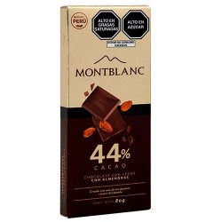 MONTBLANC - MILKY CHOCOLATE WITH ALMONDS, PERU - TABLET BAR X 80 GR