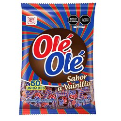 OLE OLE - CHOCOLATE MARSHMALLOWS, VANILLA FLAVORED  - BAG X 50 UNITS