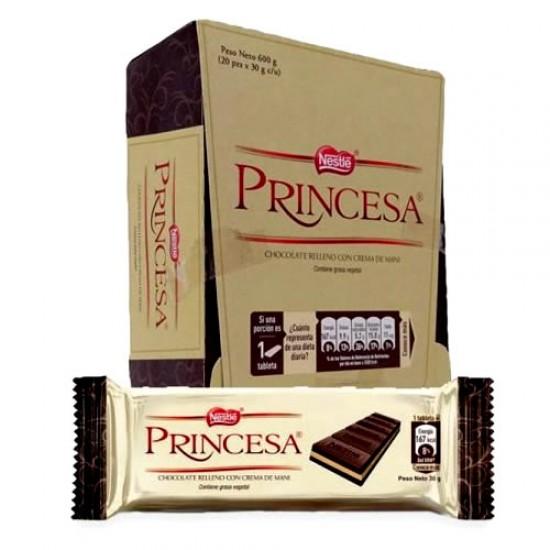 PRINCESA -  PERUVIAN CHOCOLATE BAR 30 GR , BOX  20 UNITS