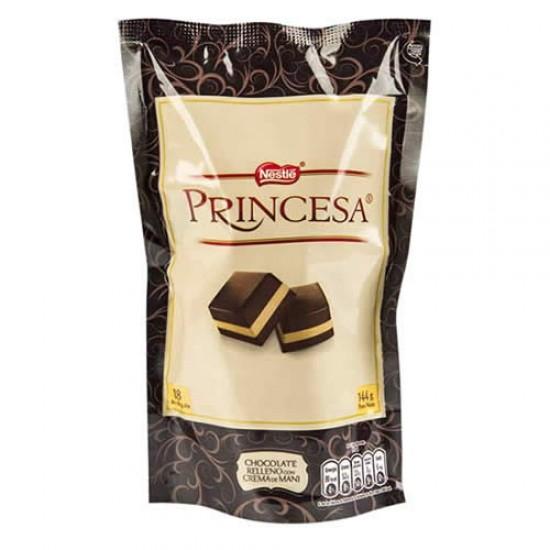 PRINCESA - PERUVIAN CHOCOLATE FILLED WITH PEANUT CREAM , BAG X 144 GR