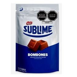 SUBLIME- PERUVIAN CHOCOLATE BONBONS WITH PEANUT, BAG X 18 UNITS