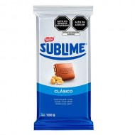 SUBLIME CLASSIC - MILK CHOCOLATE WITH PEANUTS - TABLET X 100 GR