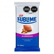 SUBLIME ALMONDS - MILK CHOCOLATE WITH ALMONDS , PERU - TABLET X 100 GR