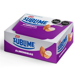 SUBLIME ALMENDRAS - CHOCOLATE TABLETS WITH ALMONDS , BOX OF 10 UNITS