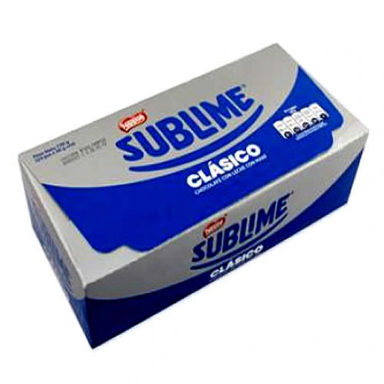 SUBLIME - PERUVIAN CLASIC CHOCOLATE ,  BOX OF 22 UNITS