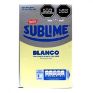 SUBLIME BLANCO - WHITE CHOCOLATE WITH PEANUTS ,  BOX OF 12 UNITS