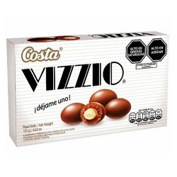 VIZZIO - ALMONDS COVERED WITH MILK CHOCOLATE , BOX OF 131 GR.