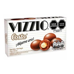 VIZZIO - ALMONDS COVERED WITH MILK CHOCOLATE , BOX OF 72 GR.